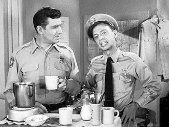 Andy Taylor and Barney Fife   (Andy Griffith & Don Knotts)  The Andy Griffith Show, CBS, 1960-1968  Forced together through blood (they're cousins) and work, these two didn't have to like each other, but were a very successful team. Andy was the composed professional, while Barney was the knucklehead.