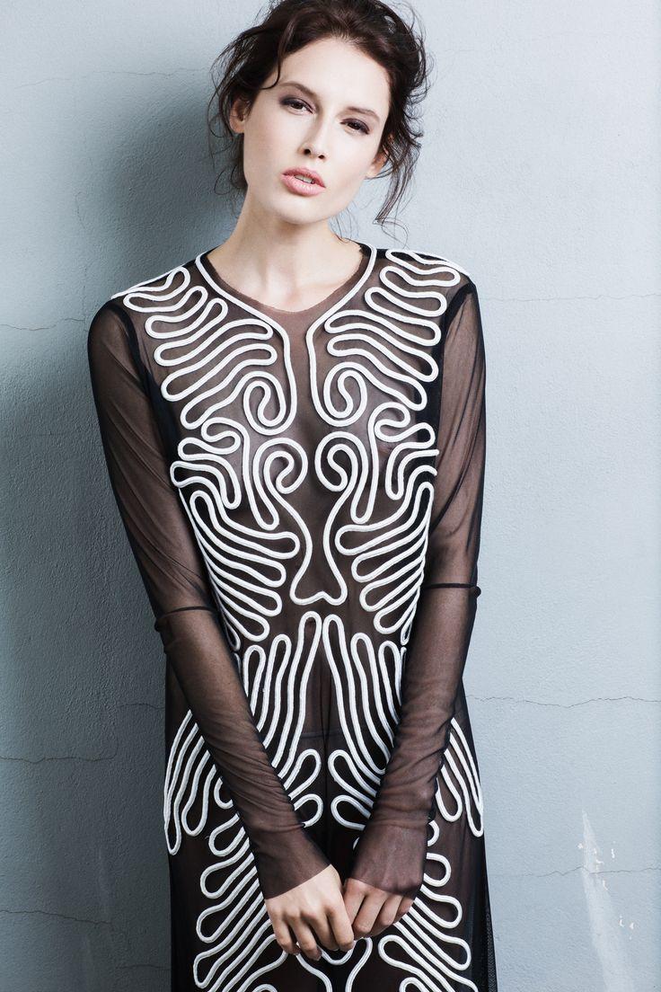 Ifigenia Fokas SS15  Hand embroidered dress  Photo credit Ilias Agiostratitis