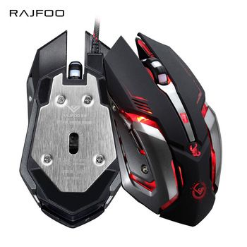 RAJFOO Gaming Mouse Ajustable 3200DPI 6 Buttons Optical Macro Programming USB Game Mouse Gamer 3 Color Breathing Variable Lights  Price: 6.13 USD