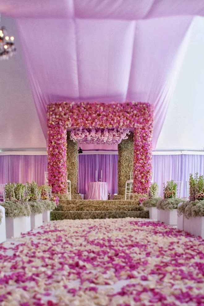 floral mandap, contemporary mandap, Styled the Aisle   Wedding Ceremony Ideas ~  Event Design: Iconic Event Studios