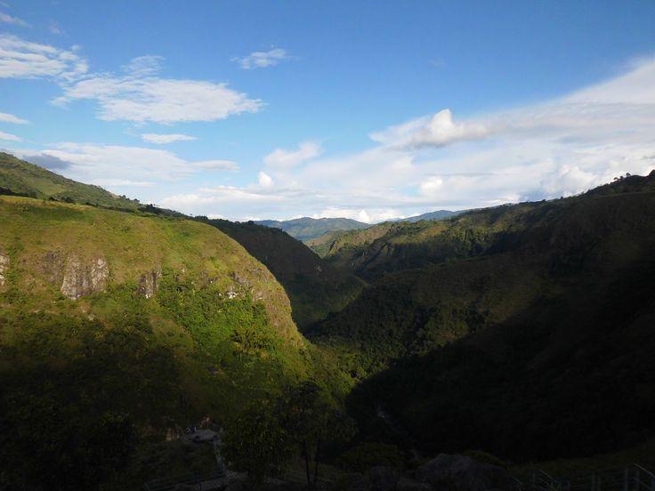Cañon del río Magdalena, visto desde La Chaquira, San Agustín.