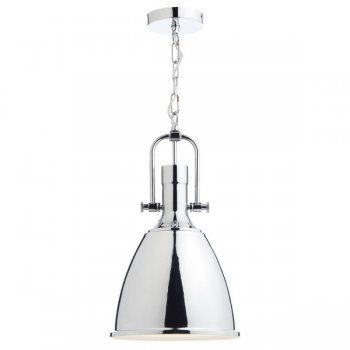 Dar Lighting Nolan 1 Light Ceiling Pendant in Polished Chrome NOL0150 | Arrow Electrical