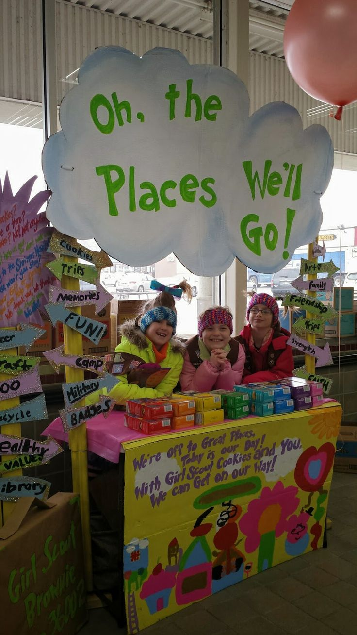 This Dr. Seuss-themed cookie booth took first place in the 2015 Bling Your Booth contest!