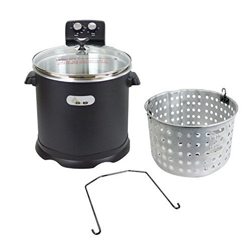 #CHARD EDF-15 #Electric #Turkey #Fryer, #16 #Quart, #Black #16 QT. Aluminum #Fryer Pot with Glass Cover Variable Temperature Control with 90-minute Timer and Auto Shut-off 1700 Watt Heating Element / ETL certified https://food.boutiquecloset.com/product/chard-edf-15-electric-turkey-fryer-16-quart-black/