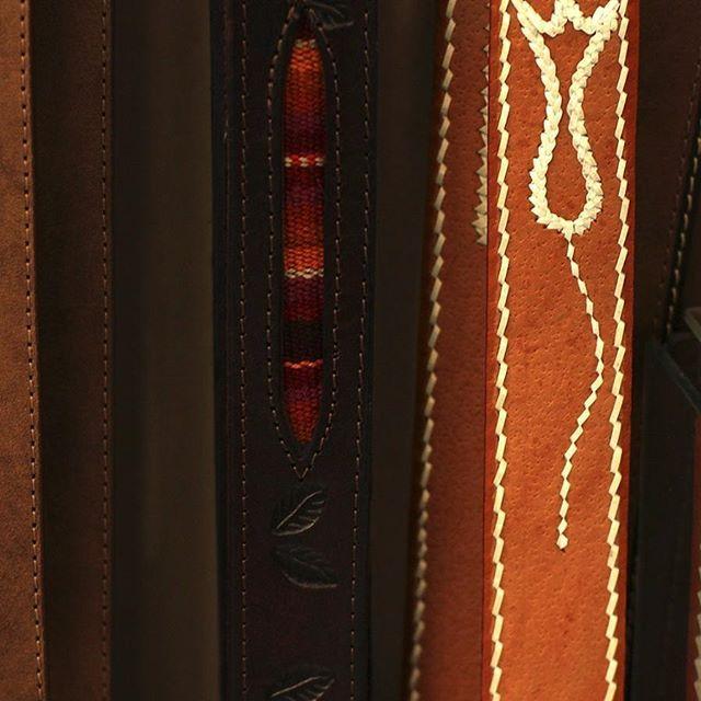 Cinturones de cuero. Artesanía Chilena.