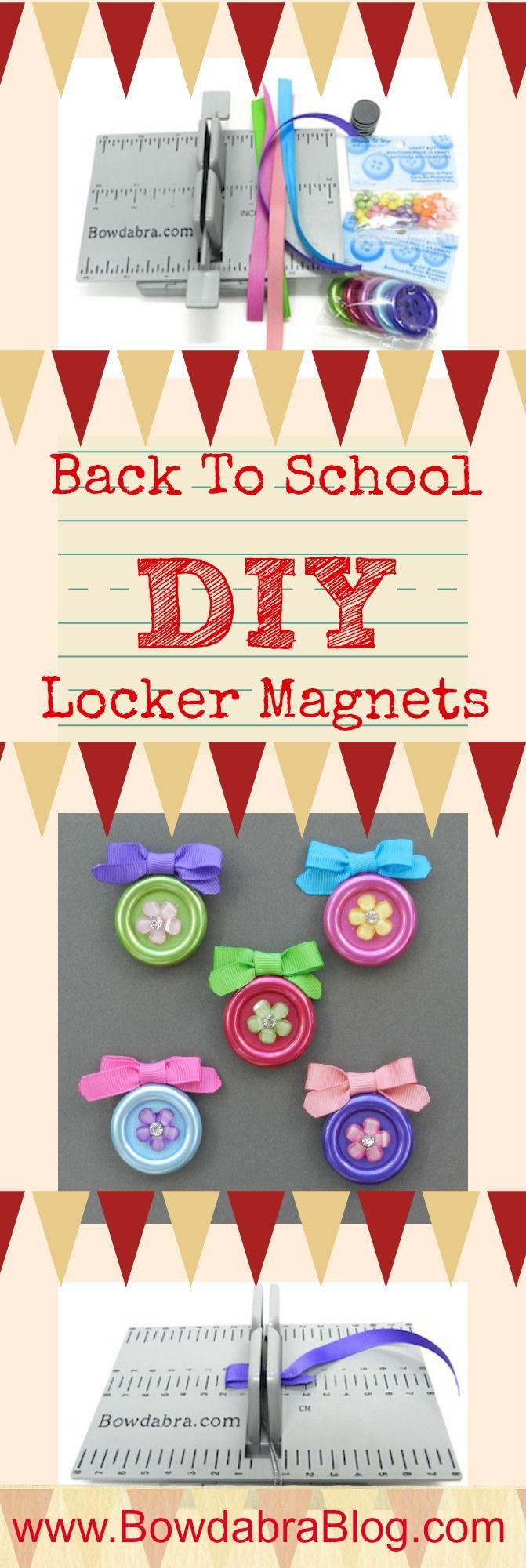 Back To School DIY Locker Magnets