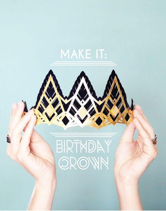 E fare: fai da te di carta compleanno corona per una ruggente festa del 20