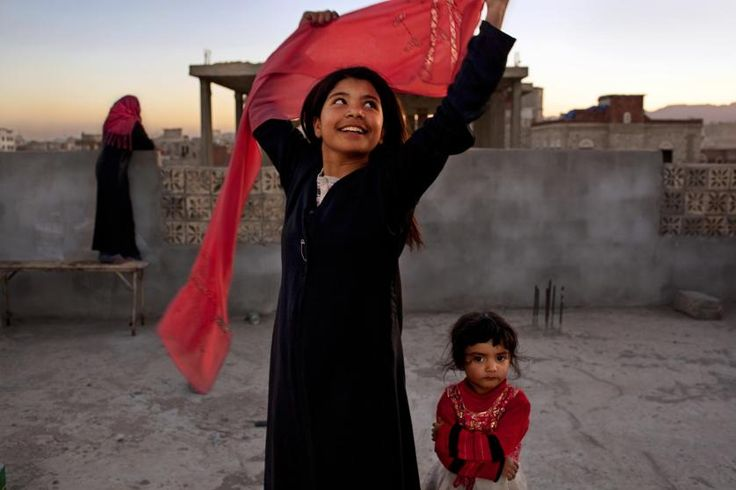 """Nujood Ali, 12, two years after her divorce from her husband who was more than 20 years her senior. <br>Nujood's story sent shock waves around the country and caused parliament to consider a bill writing a minimum marriage age into law. The bill is still pending. """"Don't let your children get married. You'll spoil their educations, and you'll spoil their childhoods [if] you let them get married so young."""""""
