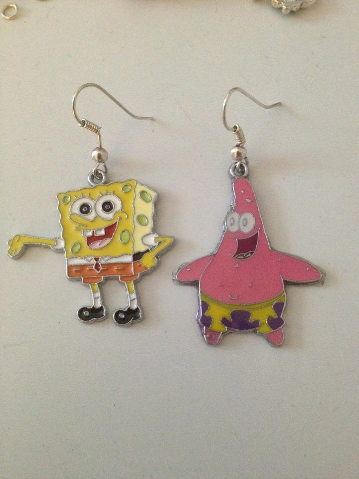 Spongebob Squarepants and Patrick Starr by bigbangjewellery, £5.00