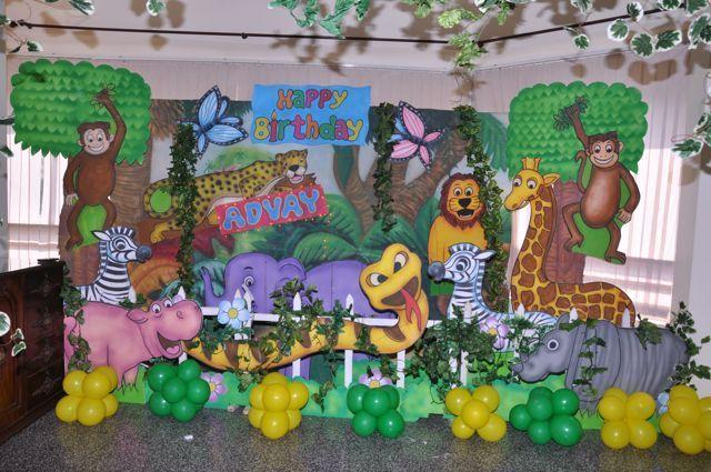 Jungle Theme Birthday Party Ideas Party Backdrops