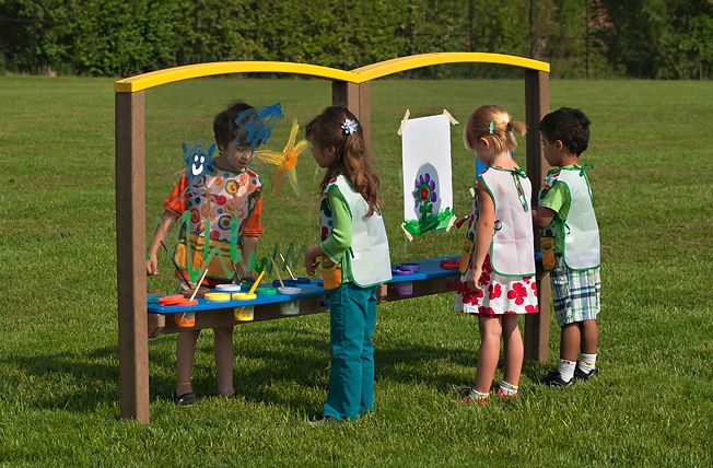 Playground Large Art Easel, Outdoor Large Art Easel, Preschool Large Art Easel – The Adventurous Child