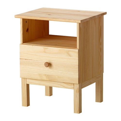 "TARVA Nightstand IKEA Solid wood, a hardwearing natural material.  $40  Width: 18 7/8 ""  Depth: 15 3/8 ""  Depth of drawer: 13 ""  Height: 24 3/8"