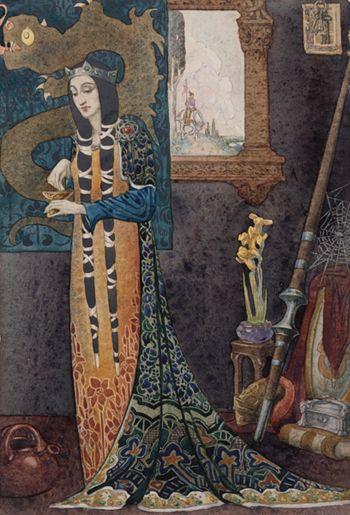 Morgan le Fay by Christian Waller (1920)