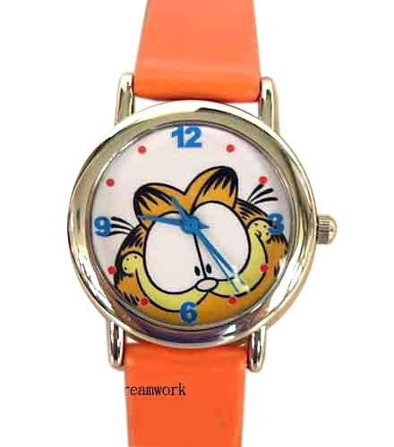 Brand New Garfield Cat leather band Wrist watch #2 | eBay