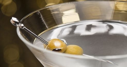 Dirty Martini in glass