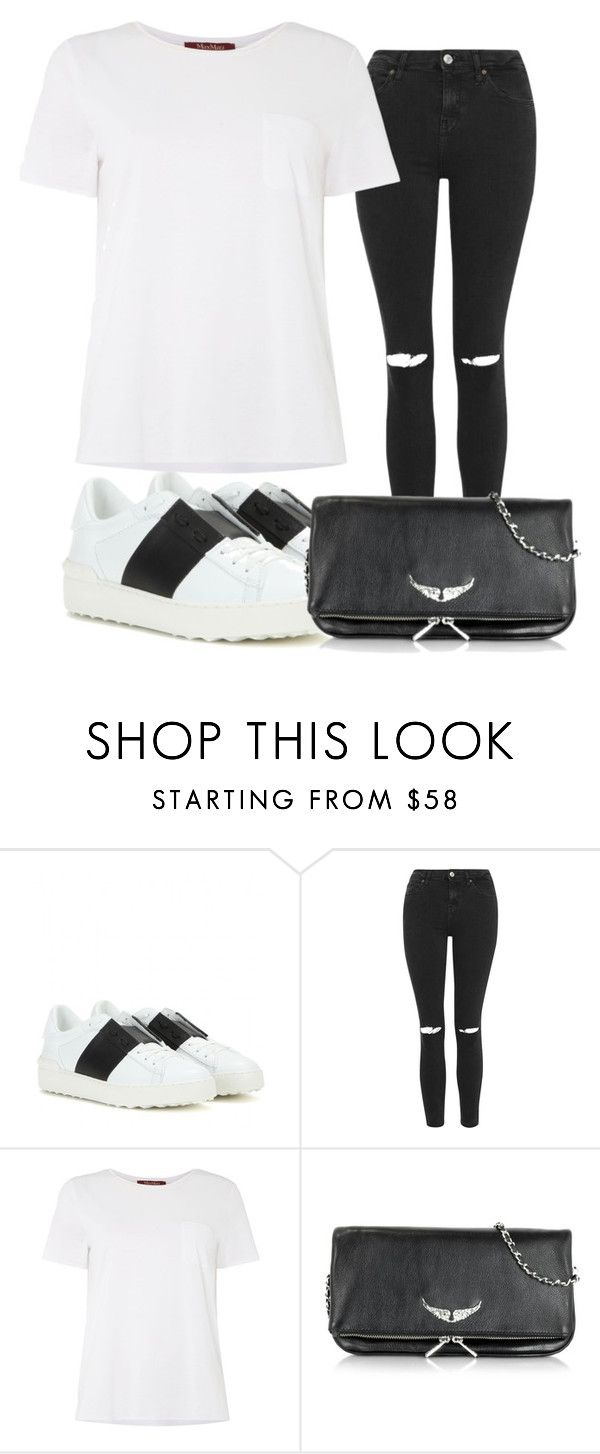 """""""Stylish"""" by mariajensenn on Polyvore featuring Valentino, Topshop, MaxMara, Zadig & Voltaire, women's clothing, women, female, woman, misses and juniors"""
