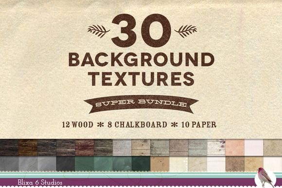 30 Wood Paper Chalk Texture Bundle by Blixa 6 Studios on Creative Market