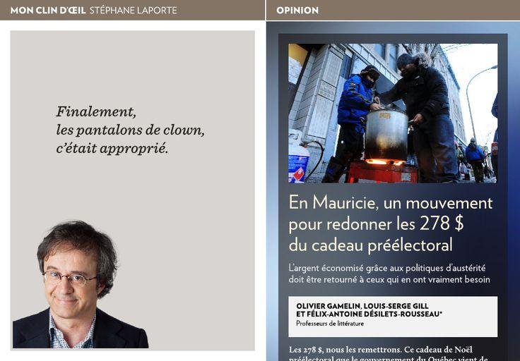En Mauricie, un mouvement pour redonner les 278 $ - La Presse+