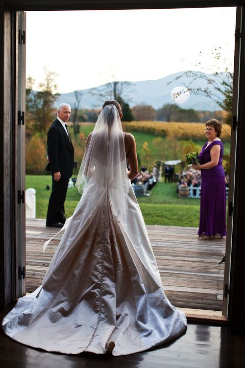 A shot that's often missed - the bride just before walking down the aisle.