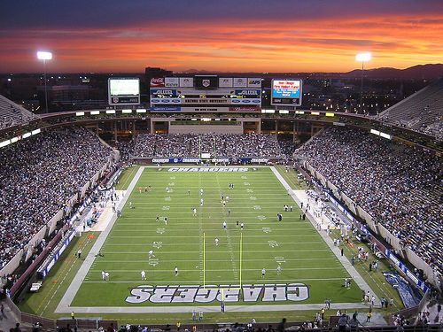Qualcomm Stadium. Unfortunately the closest football stadium to me.