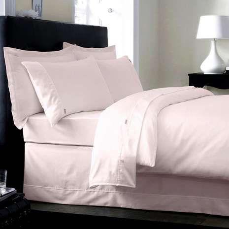 Dorma 350 Thread Count 100% Cotton Blush Pink Duvet Cover | Dunelm