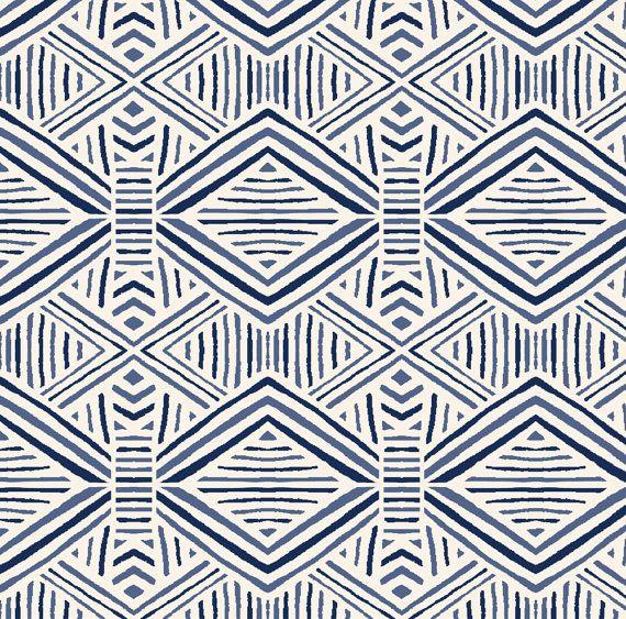 blue tribal geometric fabric tribal geometric navy blue by crystal walen tribal geometric cotton geometric