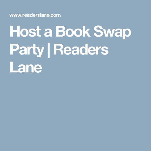 Host a Book Swap Party   Readers Lane