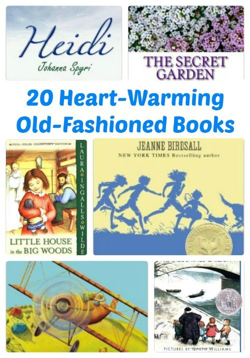 Heart-Warming Old-Fashioned Books for Kids- some of my very favorites, and also some I've never heard of! Going to check them out and see if my boys would like them. :)