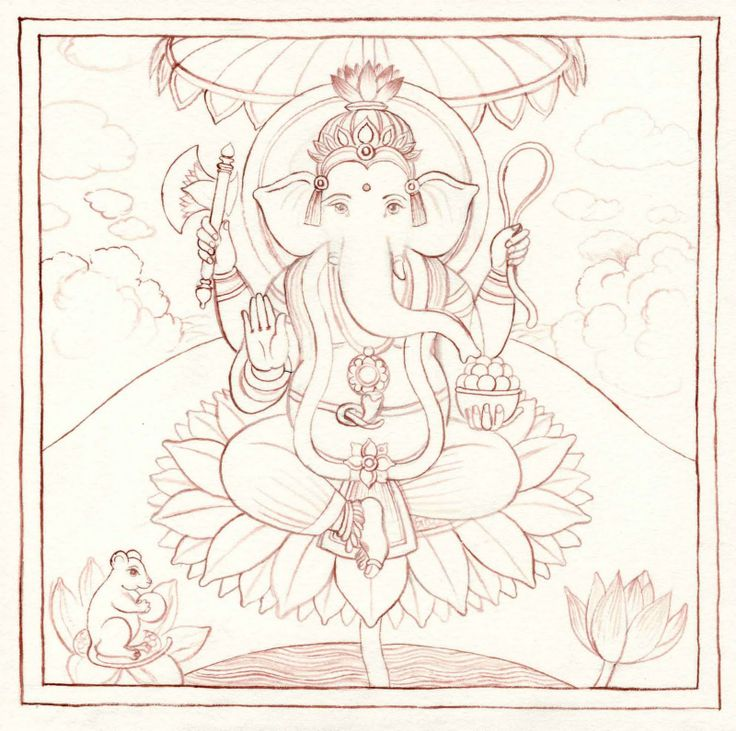 Indian Miniature Paintings: Outline Drawing                                                                                                                                                                                 Plus