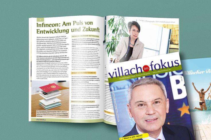 Zeitschriftenlayout für villach im fokus #branding #grafikdesign #broschüre #magazinlayout #corporatedesign #agenturpixualis #pixualis