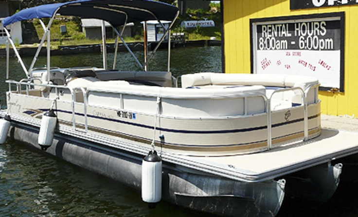 Groupon - Two- or Four-Hour Rental of a 12-Passenger Luxury Tritoon Boat (Half Off). Two Locations Available.. Groupon deal price: $67.00
