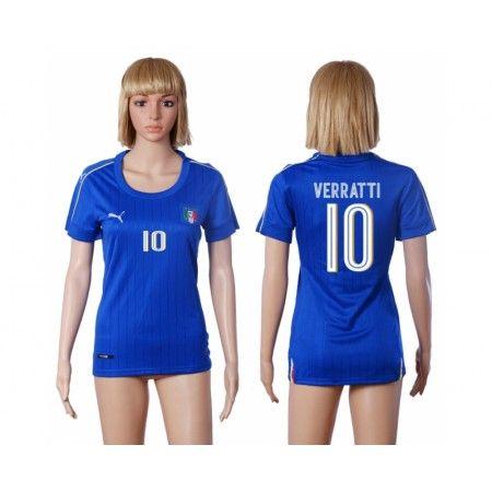 Italien Fotbollskläder Kvinnor 2016 #Verratti 10 Hemmatröja Kortärmad,259,28KR,shirtshopservice@gmail.com
