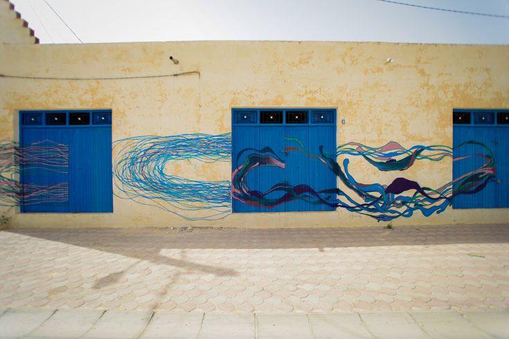 Herbet Baglione (Brazil) #streetart #erriadh #djerba #tunisia #spray