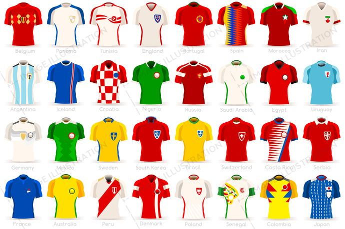 World Cup Countries Uniforms Image Illustration World Cup World Cup Teams Soccer World