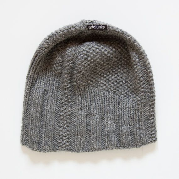 Knitted Mens Hat Shear Echo by gridjunky on Etsy