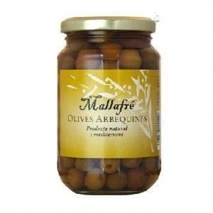 Aceitunas Arbequinas en Salmuera - Mallafre 220 gr