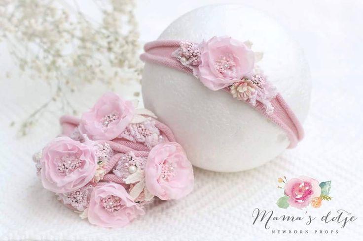 Newborn headband pink