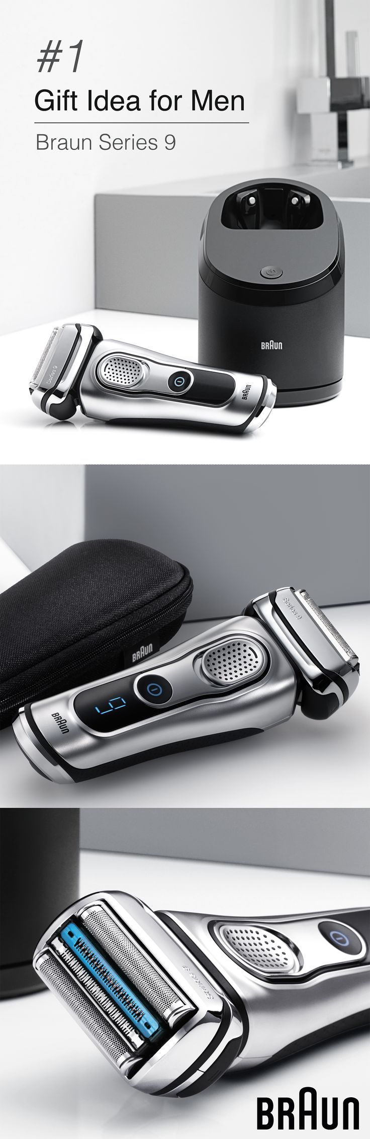 Found! This Braun Series 9 Electric Shaver, GQ's 2016 Grooming Award winner, is the #1 grooming gift idea for men. Give the gift of the world's most efficient shaver.* Surprisingly Gentle.   *Proven on 3-day beards - mens fashion clothing stores, mens casual clothing, vintage mens clothing