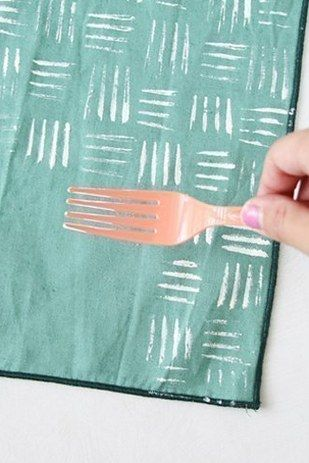 Opt for forks. | 15 Random Household Items That Make Awesome Stamps