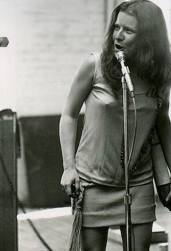 Joplin holding a guiro