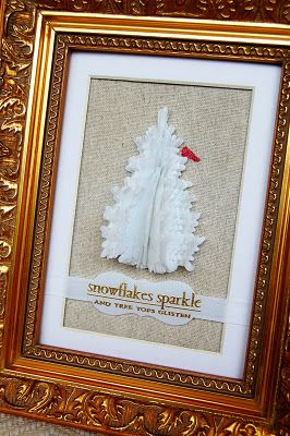 jess witty dimensional tree - pti die, some glitter, burlap. love, love, love the combo of textures