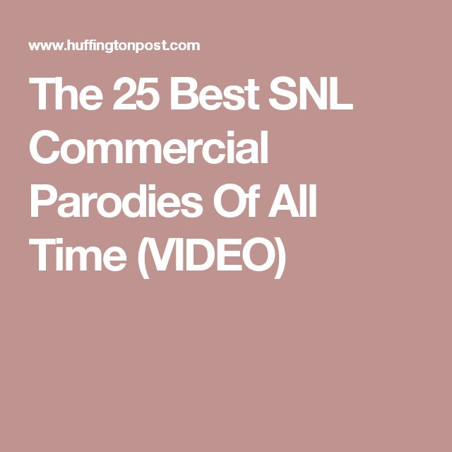 The 25 Best SNL Commercial Parodies Of All Time (VIDEO)
