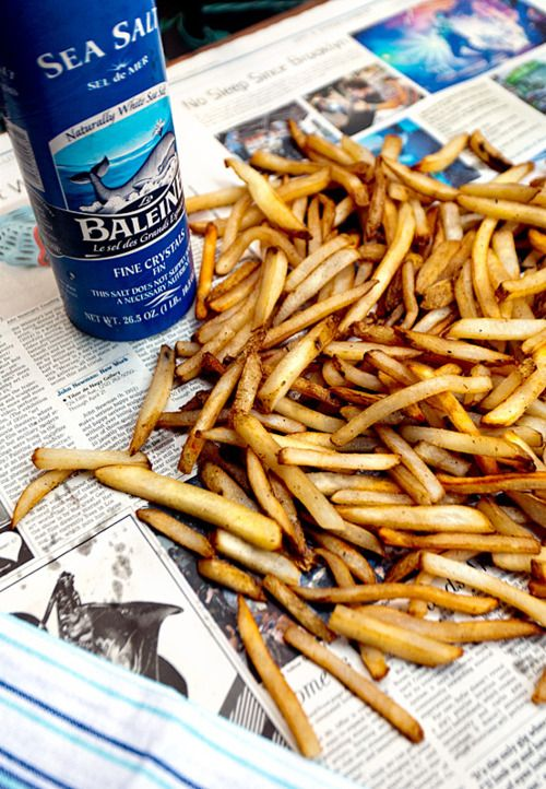 sea salt friesBelgian Style, Chips, Cups, Homemade Fries, Food, Potatoes, French Fries, Burgers, Sea Salts