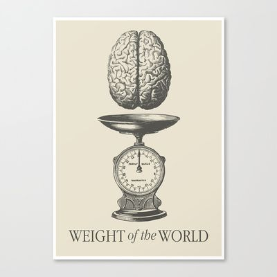Weight of the World Canvas Print by Nameless Shame - $85.00