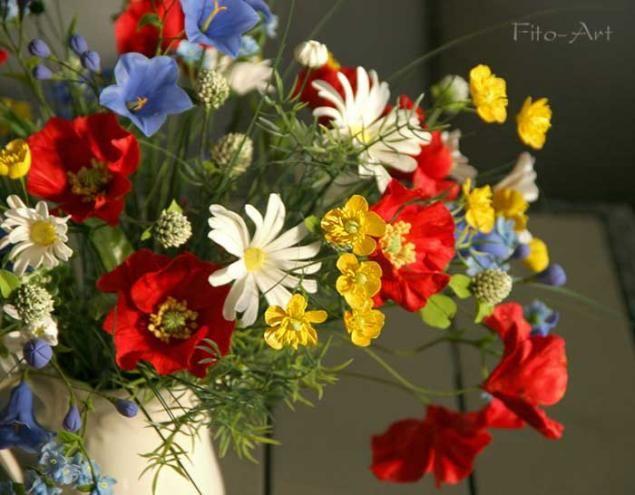 Лето навсегда. Букет полевых цветов. Фото - Ярмарка Мастеров - ручная работа, handmade