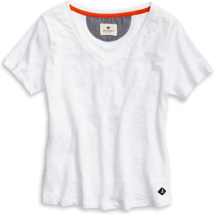 SPERRY Women's V-Neck T-Shirt - White. #sperry #cloth #