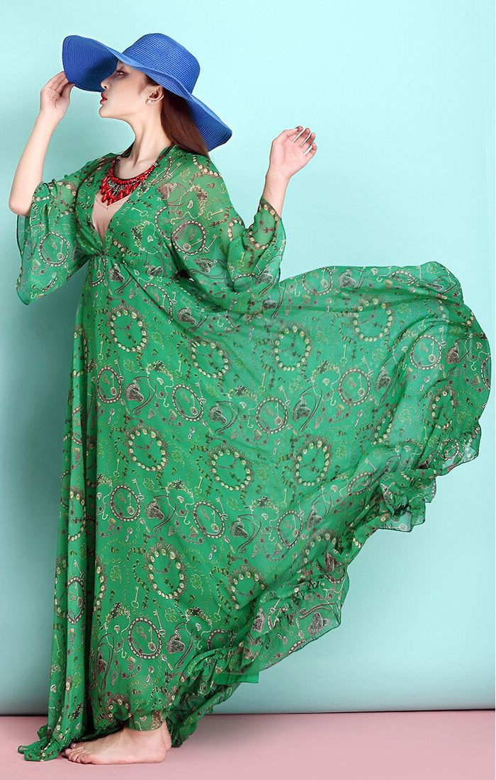 Find More Dresses Information about 2015 spring and summer fashion Bohemian chiffon dress long beach long oversized swing dress,High Quality Dresses from Gui honey on Aliexpress.com