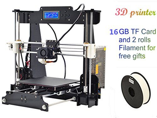 2016 printers 210*210*240mm High Quality Precision Reprap Prusa i3 DIY 3d Printer kit LCD with 2 Filaments 16GB TF card as gifts DMYY http://www.amazon.co.uk/dp/B01AY0LL3A/ref=cm_sw_r_pi_dp_5W67wb1HNJ8J5