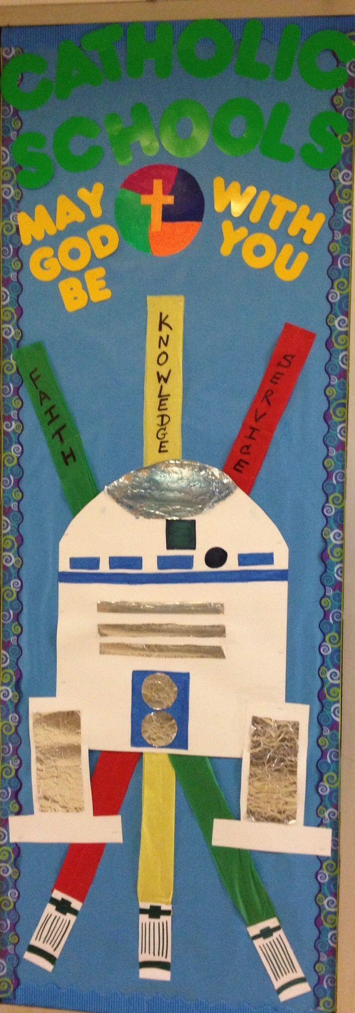 Catholic Schools Week Bulletin board idea.