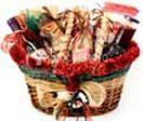 Gift Basket with dry cake, bread, jam, cheese, chips, nuts, tropicana fruit juice etc. available at : www.flowersgiftshyderabad.com/GiftBaskets-to-Hyderabad.php